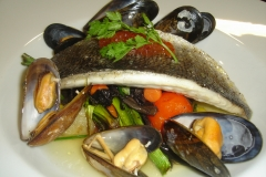 Sea bass and Mussels