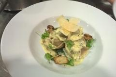 Asparagus, wild mushroom and blue cheese tortelloni